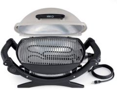 Weber Q™140 Titan színű elektromos grill - jó állapotú használt készülék